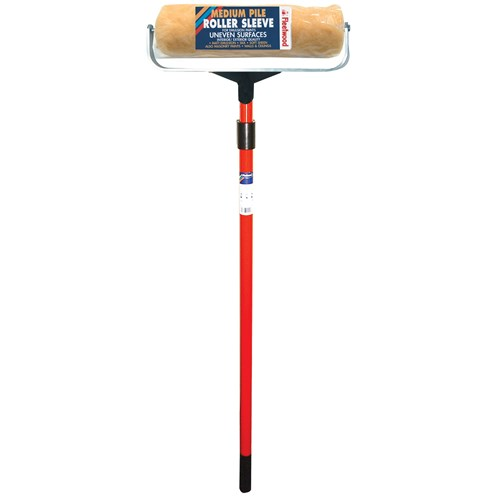 Fleetwood  Medium Pile Paint Roller with Telescopic Pole - 12in