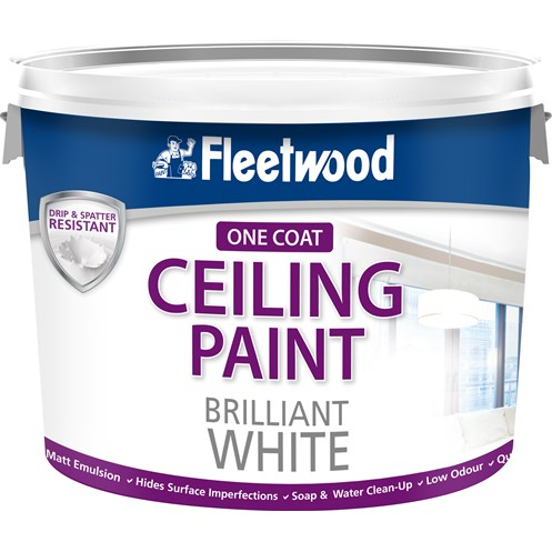 Fleetwood Ceiling Paint Matt Brilliant White Paint - 10 Litre