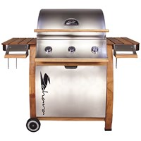 Sahara  3 Burner Stainless Steel Gas BBQ