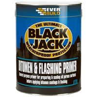 Everbuild Black Jack Bitumen & Flash Primer - 5 Litre
