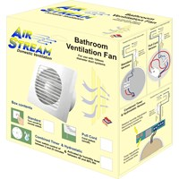 Airstream  Combined Timer & Hydrostatic Bathroom Ventilation Fan - 100mm