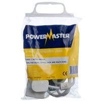 Powermaster  2m Extension Lead - 13 Amp 2 Gang