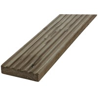 SNR  Treated Rigid Decking Timber Board - 125 x 35mm